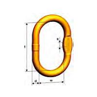Cadenas elevación anilla maestra MW anilla maestra extragrande