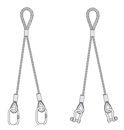 Eslingas de cable de acero Cargo flet blasant 3