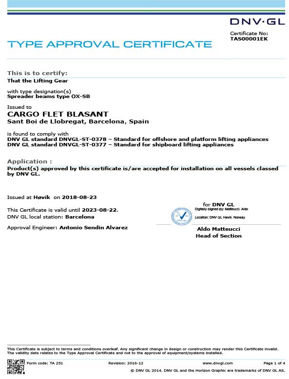 Certificado DNV