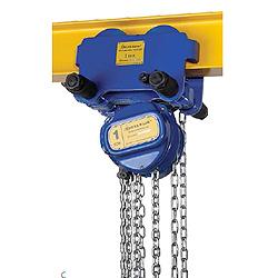 polipastos de cadena delta blue con carro