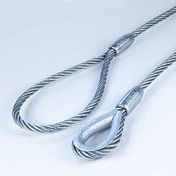 eslingas de cable de acero con guardacabo